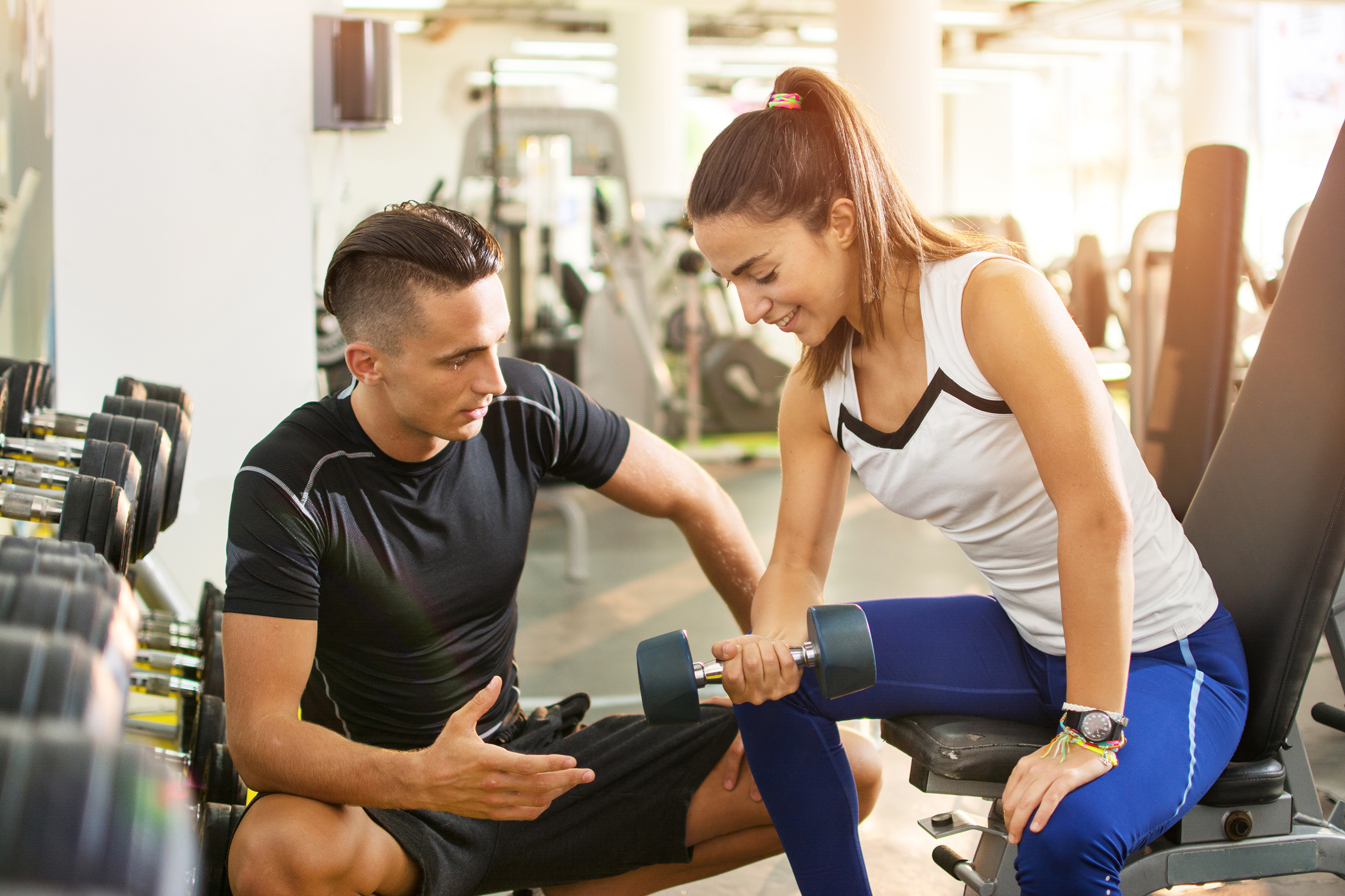 Personal Training and weights at Club Pulse Goldsmiths